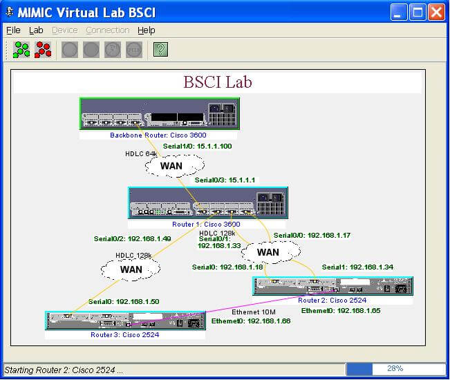 MIMIC Virtual Enterprise Lab with simulated network 2